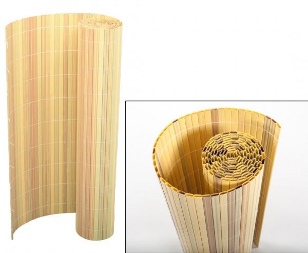 """Balkonsichtschutz PVC, """"Sylt"""" 90 x 300cm bambus"""