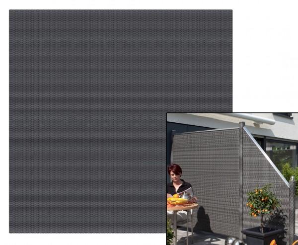 Sichtschutz Polyrattan Geflecht anthrazit, 178 x 178cm