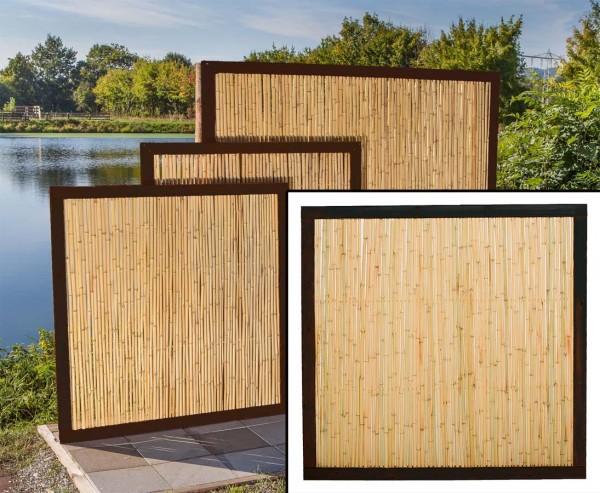 """Bambus Zaun """"Koh Samui"""", mit 180x180cm, Bambusrohre Durch. 1,8 bis 2cm"""