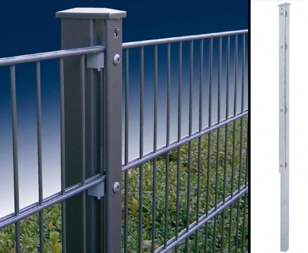 Profilschienen Zaunfposten 160cm anthr. 60x40mm für Doppelstabmatten 100cm, einbetonieren