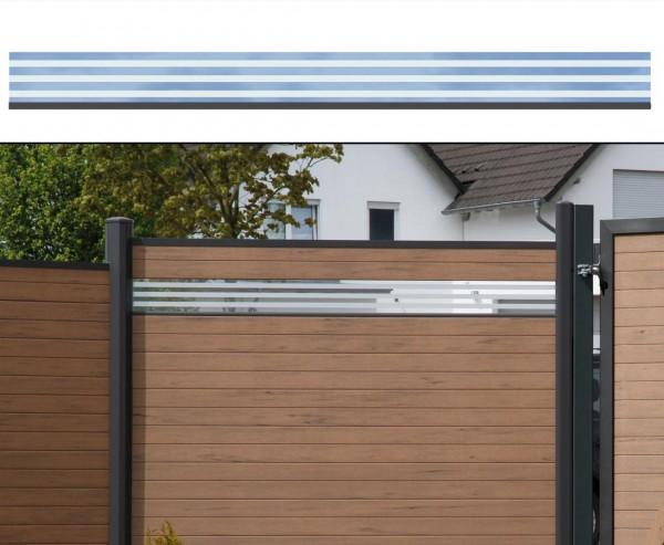 WPC Zaun Glasprofil, flach 15x180cm