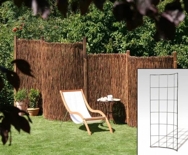 """Montagegitter 90° gebogen für Gartenzaun, """"Barcelona"""" 145 x 90cm"""