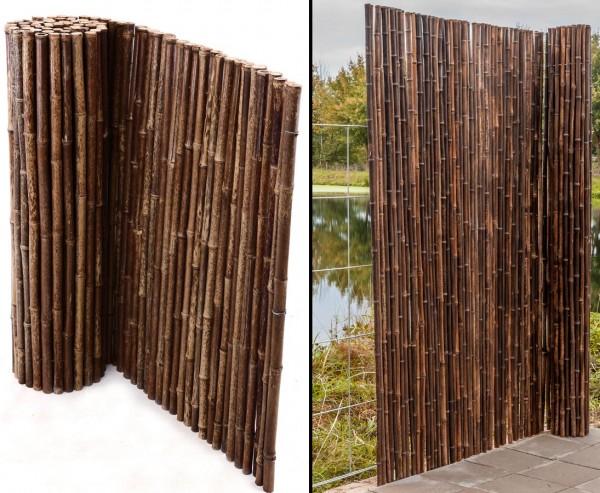 Bambusmatte naturschwarz 180 x 250cm, Rohrdurch. ca. 24mm