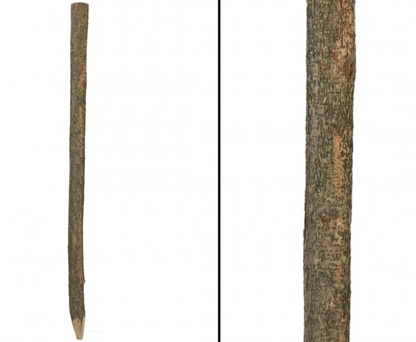Pfosten gespitzt  naturbelassen für Hasel- und Sichtschutzzäune 7-8cm mit 220cm