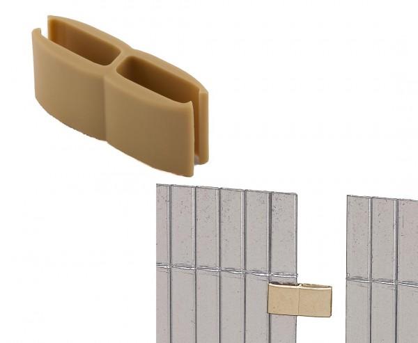 Mattenverbinder für Kunststoffmatten, bambus farbig