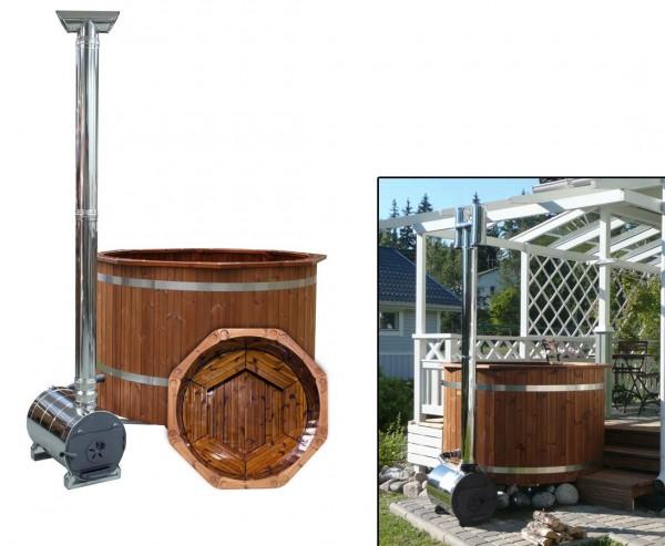 Badefass mit Durch. 150cm Premium, Kunden Spezifisches Set