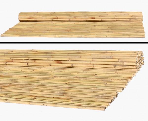 Bambusrohr Rollzaun 240 x 240cm, Durch. Bambusrohre 3,5- 4,0cm