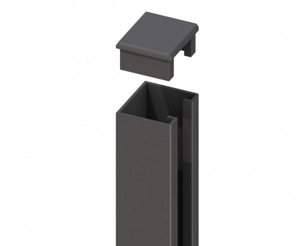Zaunpfosten für WPC System U-Montageprofil anthrazit, Höhe 238cm