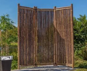Paravent Bambus schwarz von bambus-discount.com