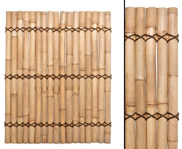 """Bambus Zaun """"Apas"""" gelblich, starre Verschnurrrung, Druch. 6 bis 8cm, 150 x 120cm"""