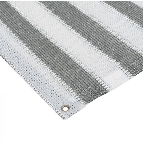Sichtschutz Balkon grau/weiß, Rolle mit 90x250cm