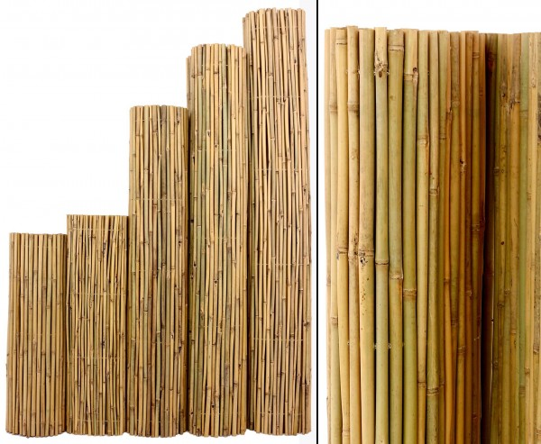 Bambus Matte Bali extrem stabil 200x300cm mit Draht durchbohrt