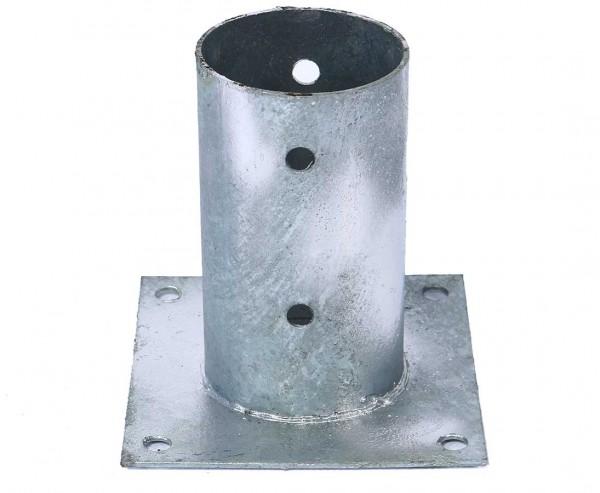 Aufschraubhülse für Rundholzpfosten mit 8cm, Grundfläche 15x15cm