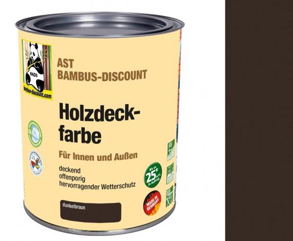 Holzlasur dunkelbraun 0,75 Liter für innen und außen, perfekter Wetterschutz