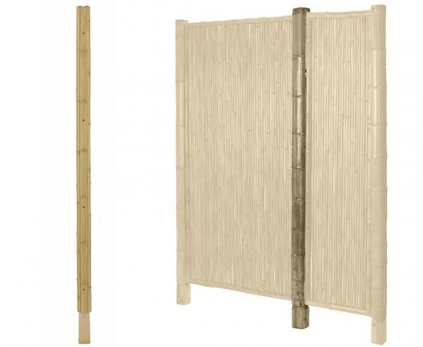 "Bambus Pfosten ""TEN New Line"" 200cm, Durchmesser Sockel 7x7cm"