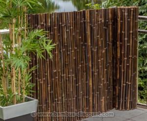 Die schwarze Bambusmatte natur von bambus-discount.com
