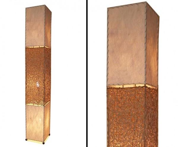 "Stehlampe ""Bangkok"" aus Naturmaterial, Höhe 170cm"
