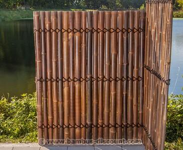 Bambuszaun als praktischer Sichtschutz