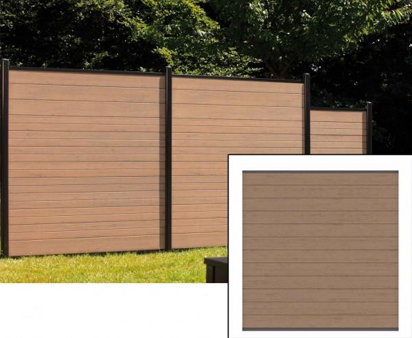 Sichtschutzzaun WPC System Set mandel, 178x183cm
