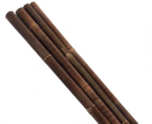 Bambusrohr Wulung schwarz braun 300cm mit Durch. 6 bis 8cm