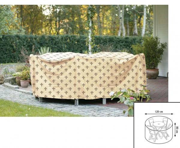 """Schutzhülle """"Cover"""" Lilie für runde Tischgruppen, Höhe 80cm Durch. 120cm, beige"""