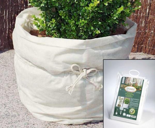 Überwinterung der Pflanzen mit weißen Vlies ca. 17g/qm, Höhe 150 x Länge 500cm