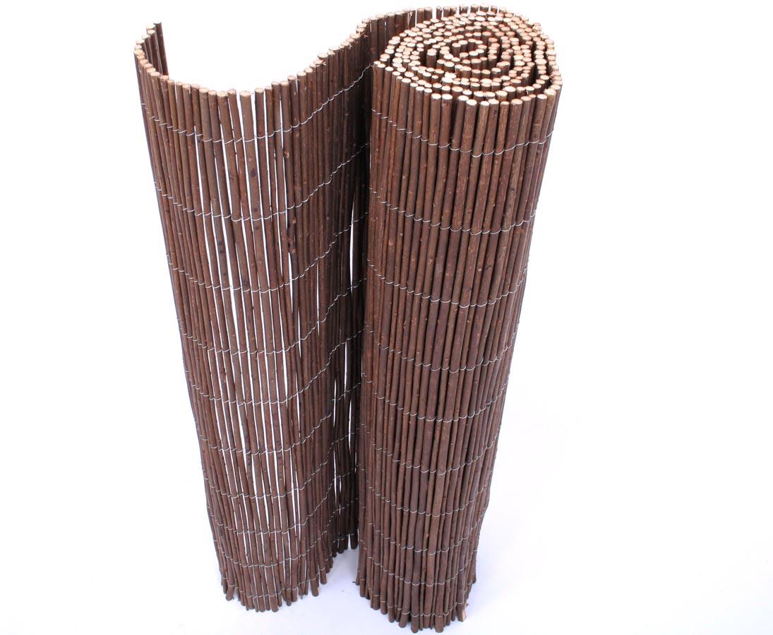 Garten Terrasse Sichtschutz Bambus Weidenmatte Weidenzaun