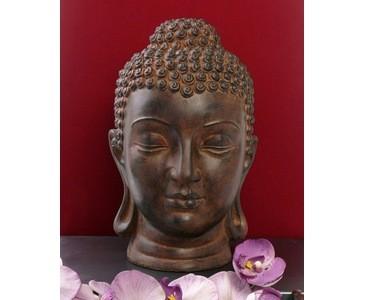 Buddha Kopf, Abmessungen ca. 39 x 20 x 20cm, aus Polyresin Material