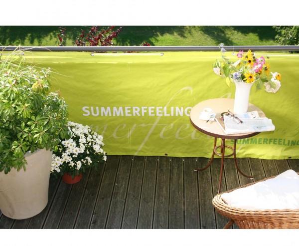 """Balkonverkleidung """"Summerfeeling"""", aus Polyesterstoff mit 90x300cm, hellgrün"""