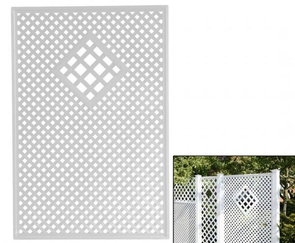 """Terrassen Sichtschutz Coventry """"Diamant"""", mit Raute, 185 x 125cm, weiss"""