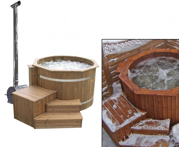 Hot Tub Set4 Standard mit Holzofen, Durch. 150cm