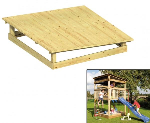 Pultdach aus Holz für Giga Spielturm, 223x223cm
