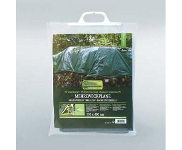 Abdeckplane, vielseitig verwendbar aus PE Material grün, L: 400cm x B: 500cm