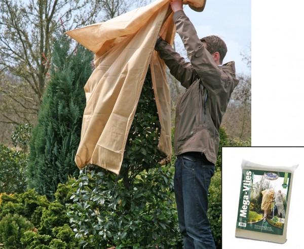 Winterschutz Mega Vlieshaube, mit Reißverschluß, 50g/qm, beige, Abmessungen ca. 180 x 120cm