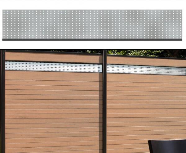 Dekorprofil für WPC Zaun, Metall hoch 30x180cm