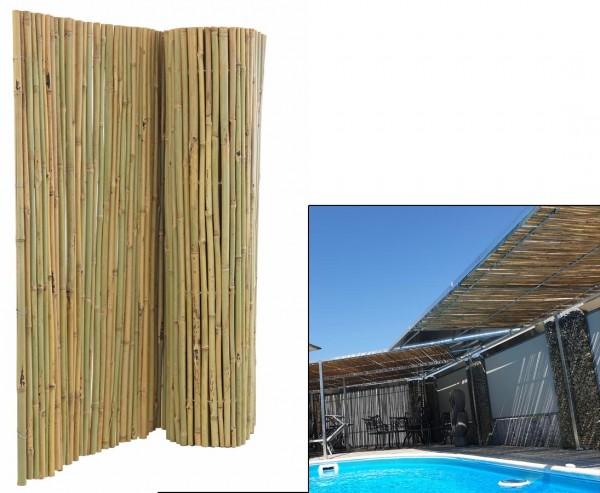 Bambusmatte Bali 120 x 300cm, mit Draht durchbohrt und extrem stabil