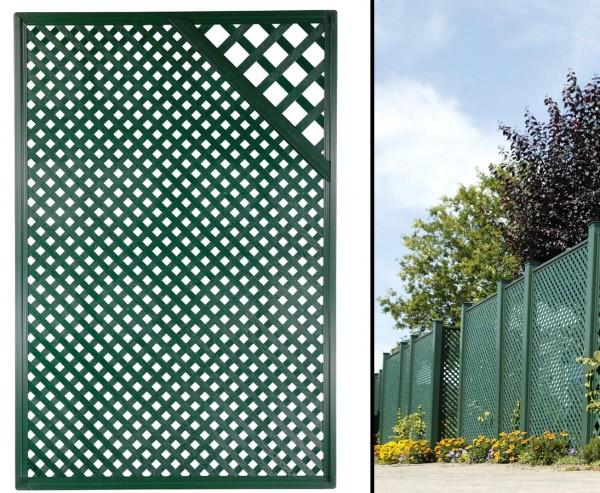 """Sichtschutz Coventry """"Diamant"""", mit Zierecke, 185 x 125cm, grün"""