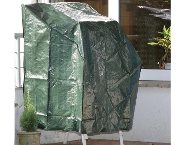 Schutzhülle für Stapelstühle grün, PE Material, L:66cm x B:66cm und Höhe 110cm
