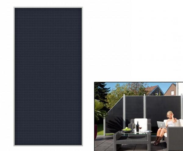 """Sichtschutzzaun """"Weave Lüx"""", Textil Bespannung 178 x 88cm, anthrazit"""