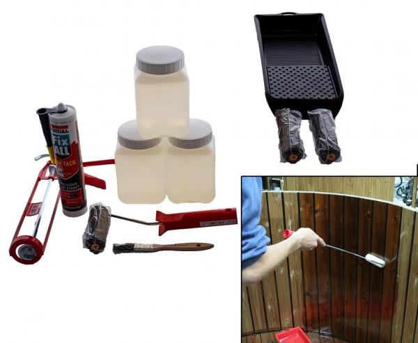 TubCoat 3l Kunststoff Oberflächen Anstrich Set für Holz Badefässer