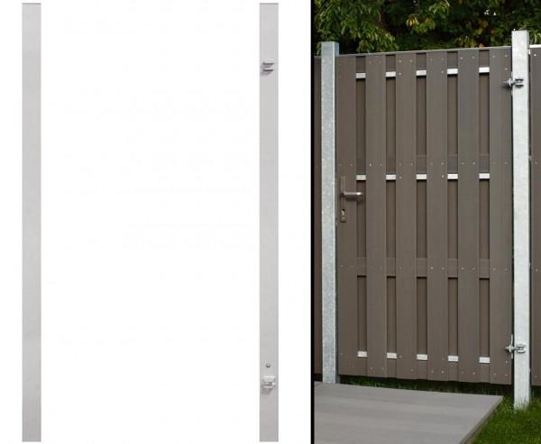 Torpfosten universal verwendbar in Metall verzinkt silber mit 255cm