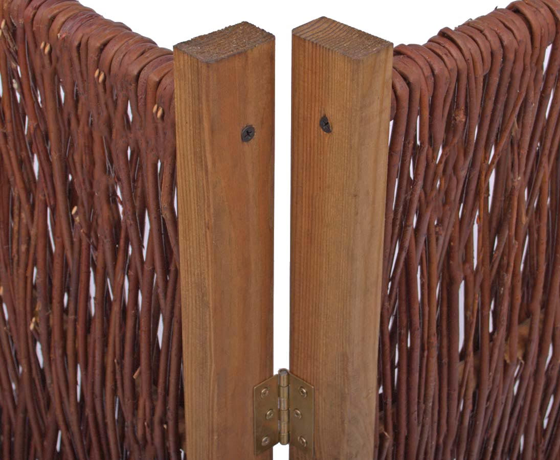 Paravent 3teilig 180x180cm Aus Weide Natur Gunstig Bestellen