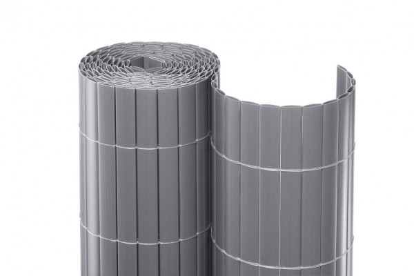 Balkonverkleidung Kunststoff, Berlin, eco Modell, 90 x 300cm, silber