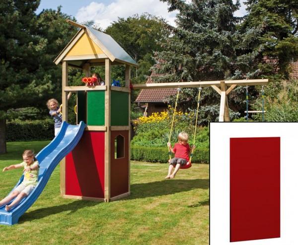 Wandelement geschlossen für Spieltürme, rot mit 138x90cm