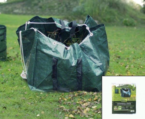 Laubsack eckig für Gartenabfälle, aus PE Material grün, Höhe 45cm und B:55cm x L:55cm