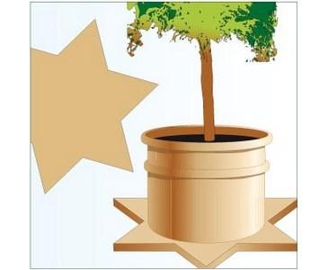 Winterschutz Topfunterlage, Boden Isolation, CocoStern mit 70x70cm, natur farbig