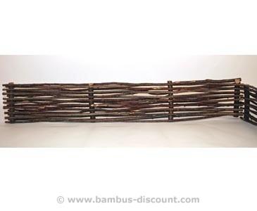 Beet Einfassung aus Haselnuss Zweigen, 150x25cm