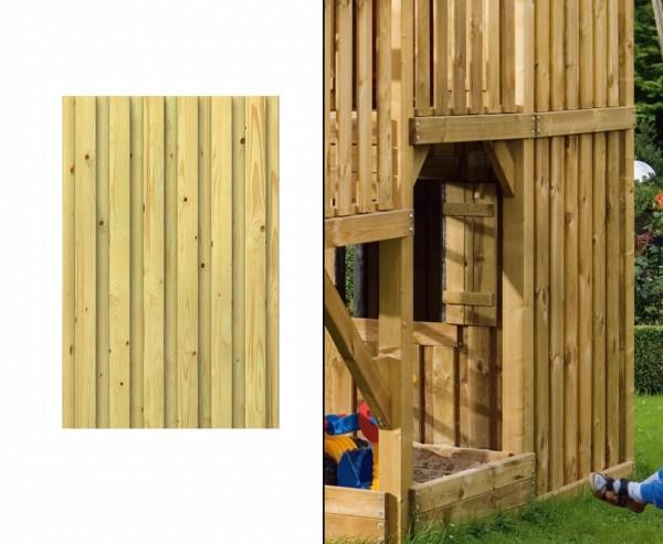 Spielhauswand aus Holz geschlossen, Bausatz 138x90cm