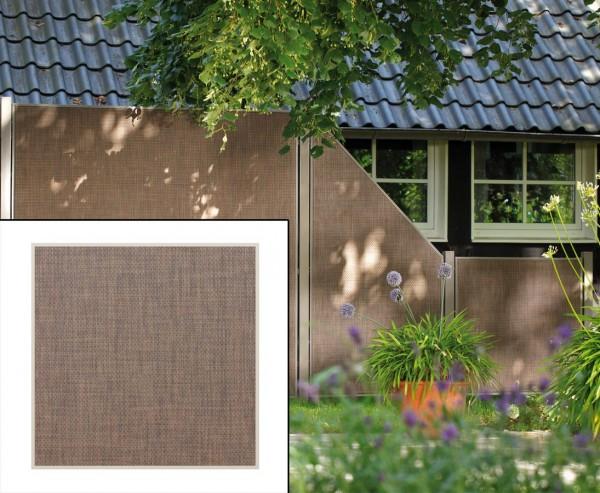 """Sichtschutzwand """"Weave Lüx"""", Textil Bespannung 88 x 88cm,bronze"""
