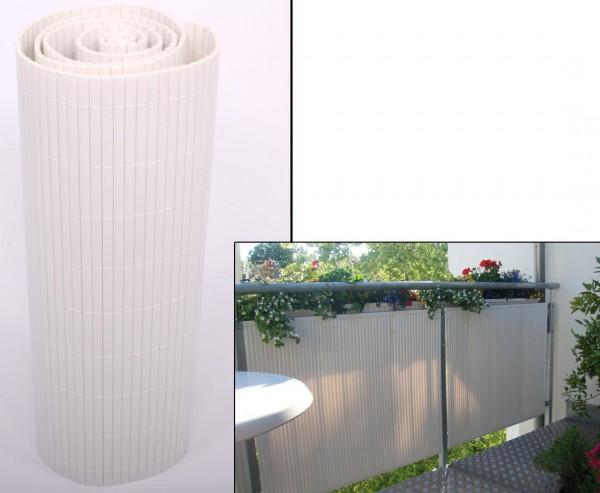 """Balkonverkleidung, """"Sylt"""" 90 x 500cm uni-weiß"""